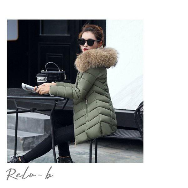 中綿ダウンコート レディース 40代 ロング丈 軽い 2019 秋冬 アウター 中綿コート 中綿ジャケット ダウン風コート フード付き 厚手 暖かい 大きいサイズ スリム|otto-shop|15