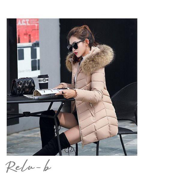 中綿ダウンコート レディース 40代 ロング丈 軽い 2019 秋冬 アウター 中綿コート 中綿ジャケット ダウン風コート フード付き 厚手 暖かい 大きいサイズ スリム|otto-shop|19
