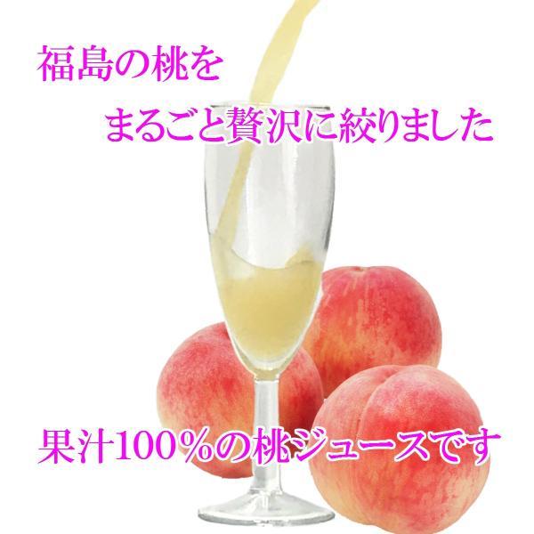 桃ジュース ももジュース 福島ももジュース 桃の恵み 190g × 30本 送料無料 福島 ふくしま|otumamidonya|02