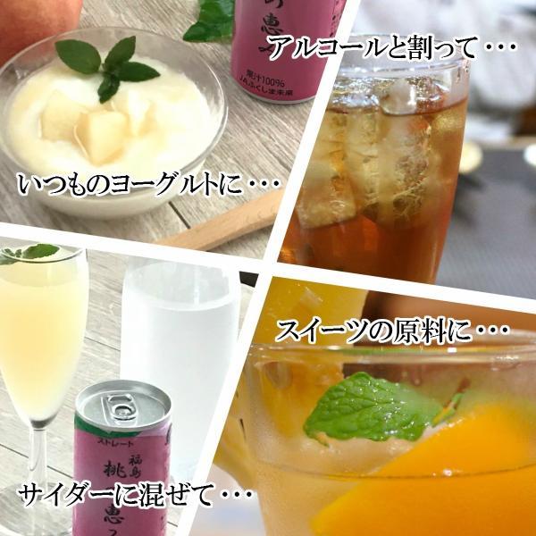 桃ジュース ももジュース 福島ももジュース 桃の恵み 190g × 30本 送料無料 福島 ふくしま|otumamidonya|03