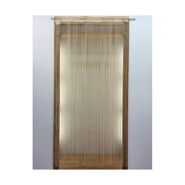TERADA 機能付きひもカーテン/花粉・ほこりキャッチタイプ ベージュ/約105×200cm