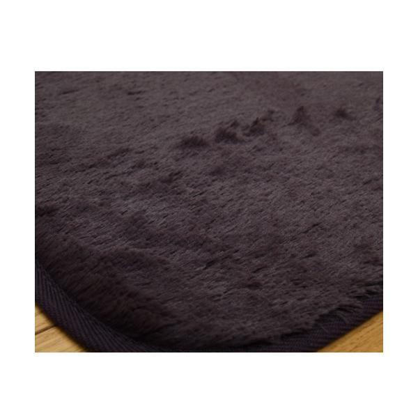 IKEHIKO フィラメント素材 ホットカーペットカバー 『フィリップ』/4608619 京紫/185×185cm