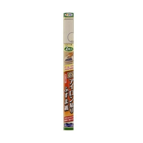 アサヒペン EXアイロン貼りふすま紙/95cm×1.8m 2枚入 No.206花優 花優