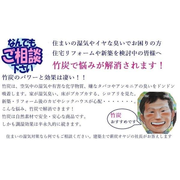 消臭・調湿竹炭Bタイプ(2.5kg×6袋=15kg入/箱):床下の湿気・カビ・シロアリ対策に有効です|oumi-satoyama-pro|06