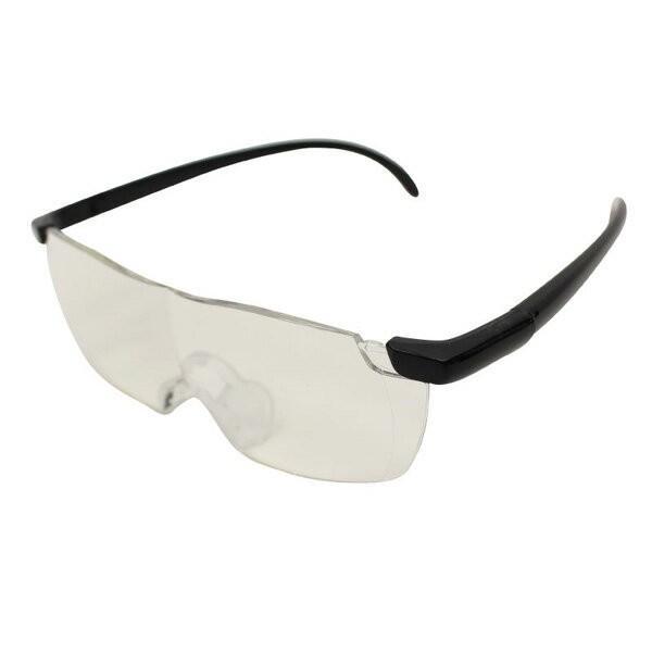 メガネ式ルーペ ブルーライトカット 拡大率1.6倍 メガネをしてても使える 専用ポーチ付 拡大鏡 ルーペメガネ 送料無料|oupace|02