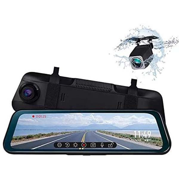 Eononミラー型ドライブレコーダー9.66インチ右カメラ右側カメラ前後2カメラ右ハンドル対応ドラレコノイズ対策R0016