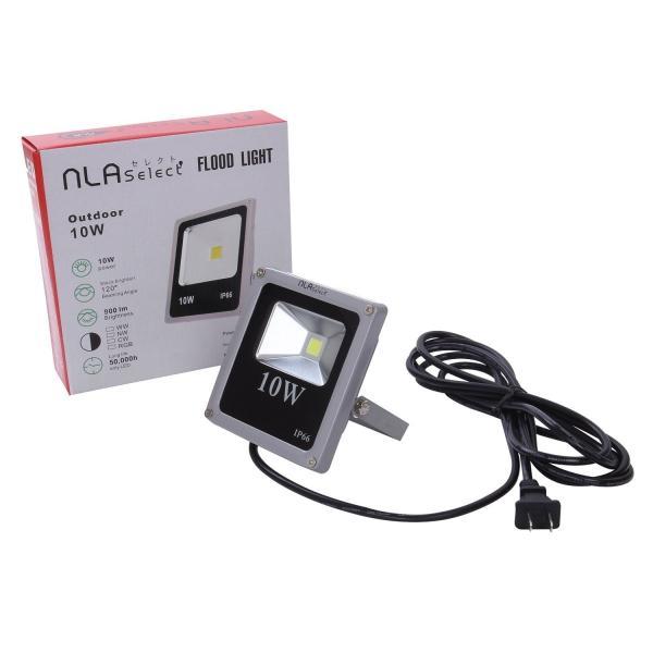 10W 薄型LED投光器 防水仕様 IP66 投光機 バーベキュー 広角120度 100v プラグ付 昼白色 6000K|outdoorgear|06