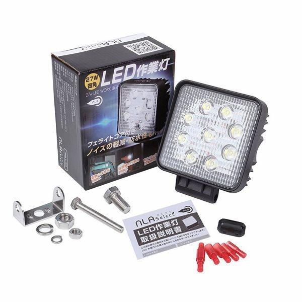 led作業灯ライト 10個セット/トラック・軽トラに最適/LED作業灯27W 12V/24V /ワークライト LED|outdoorgear|06