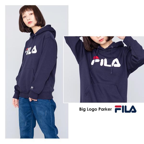 575f628e19eb ... フィラ FILA プルオーバー レディース 長袖 オーバーサイズ パーカー ブランド トレーナー|outfit-style| ...