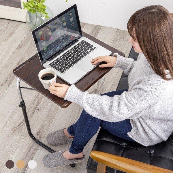テーブル折りたたみテーブルサイドテーブルリモートワークテレワーク在宅勤務デスクパソコン作業台ベッドサイドテーブル高さ角度調節