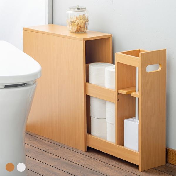 fam+/ファムプラス 薄型 トイレ収納 スリム スライド トイレラック outlet-f