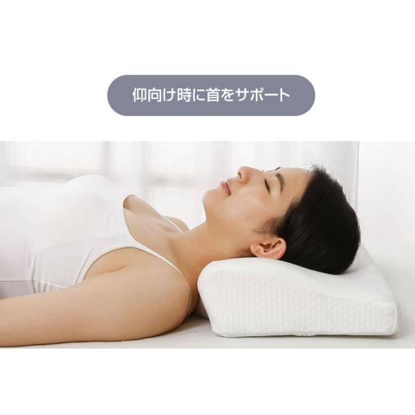 医師も納得の寝心地 快眠枕 スリープル メディキュアピロー 横向き 頚椎 ストレートネック サポート いびき 枕 まくら ラージサイズ 送料無料 outlet-f 12