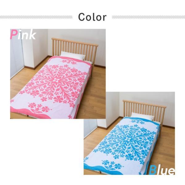 ハワイアンキルト風 今治タオルケット ゆったりサイズ 150cm×200cm 日本製 2色組|outlet-f|02