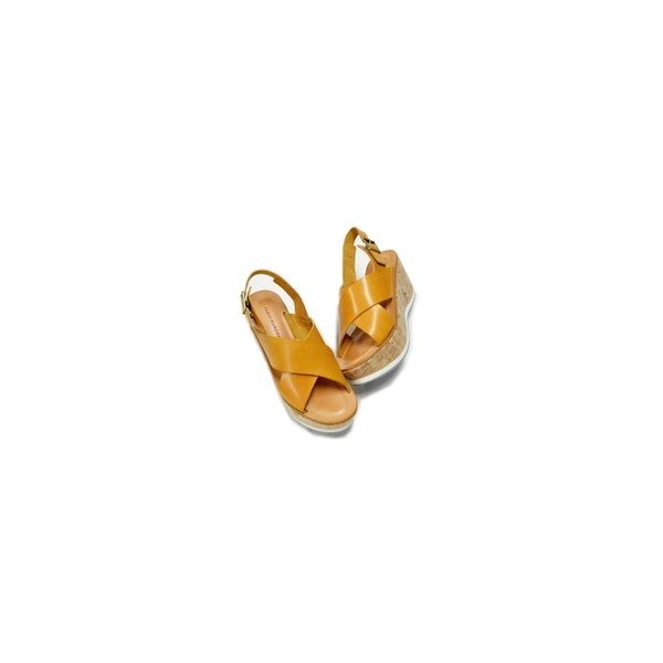 FABIO RUSCONI ファビオルスコーニ クロスベルト サンダル イタリア製 ウェッジソール レザー レディース 靴 返品