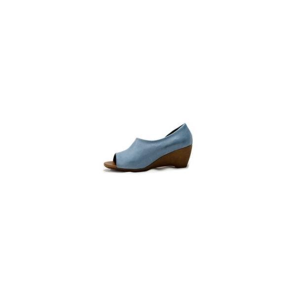 7016a4eb11c8fc BUENO SHOES ブエノシューズ オープントゥ サイドカットサンダル J2410 トルコ製 ウェッジソール レザー 本革 ブラック 黒  レディース 靴 返品送料無