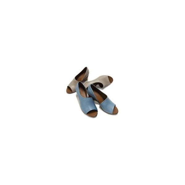 d51567acfa99e7 BUENO SHOES ブエノシューズ オープントゥ サイドカットサンダル J2410 トルコ製 ウェッジソール レザー 本 ...