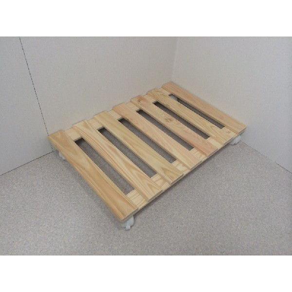 押入れ すのこ スノコ 布団 木製 収納 日本製 クローゼット 通気性 カビ 湿気 国産 ひのき すのこ 40×60cm キャスター付き 2枚組|outlet-woodgoods