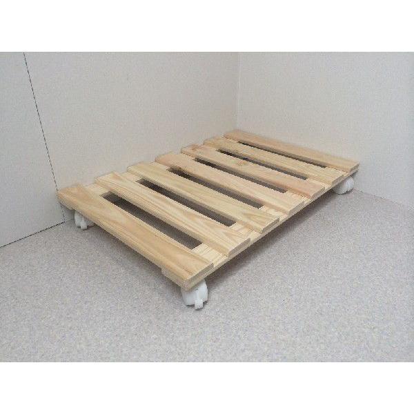 押入れ すのこ スノコ 布団 木製 収納 日本製 クローゼット 通気性 カビ 湿気 国産 ひのき すのこ 40×60cm キャスター付き 2枚組|outlet-woodgoods|02