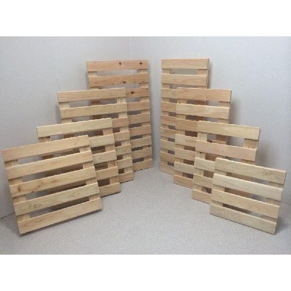 押入れ すのこ スノコ 布団 木製 収納 日本製 クローゼット 通気性 カビ 湿気 国産 ひのき すのこ 40×60cm キャスター付き 2枚組|outlet-woodgoods|03