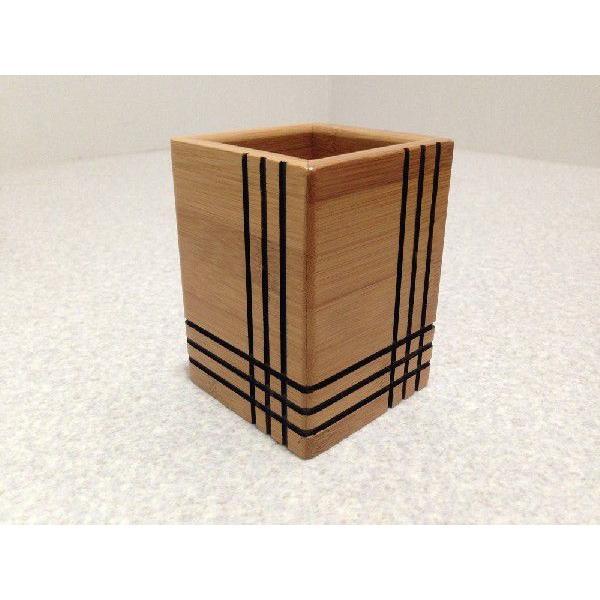 ペン立て 木製 ペンスタンド おしゃれ 天然木 合竹製 木目 シンプル 眼鏡スタンド