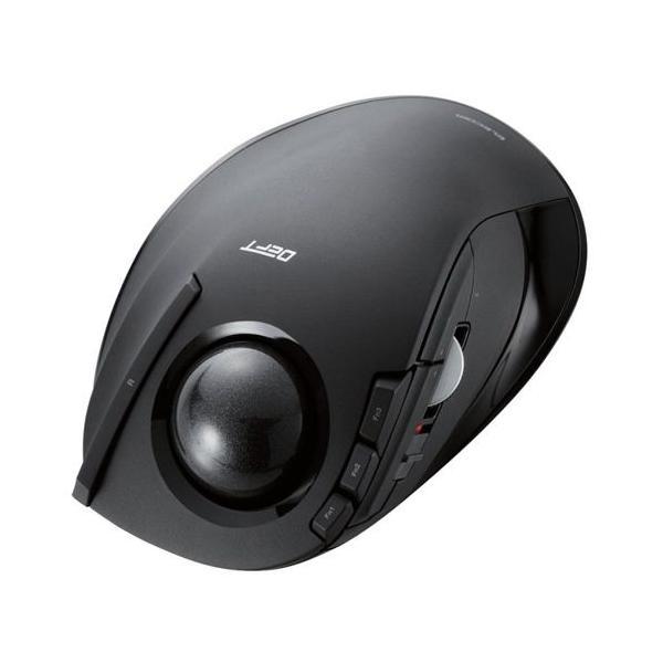 エレコム トラックボールマウス/人差し指/8ボタン/無線 M-DT1DRBK ブラックの画像