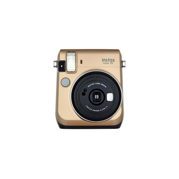 フジフイルム インスタントカメラ instax mini 70N 「チェキ」 ゴールドの画像