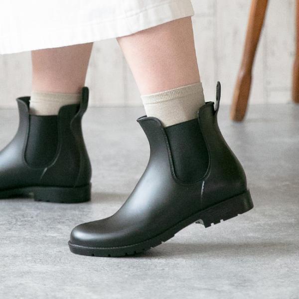 完全防水レディースレインブーツ長靴ショートブーツレインシューズ2cmヒール