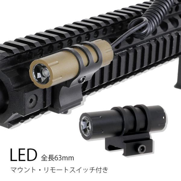 高輝度超コンパクトLEDコンパクトタクティカルライトリモートスイッチ20mmレール対応マウントリング付き