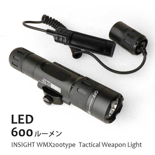 ≪明るい 高輝度LED600ルーメン≫LEDタクティカルライトウェポンライトINSIGHTWMX200タイプ