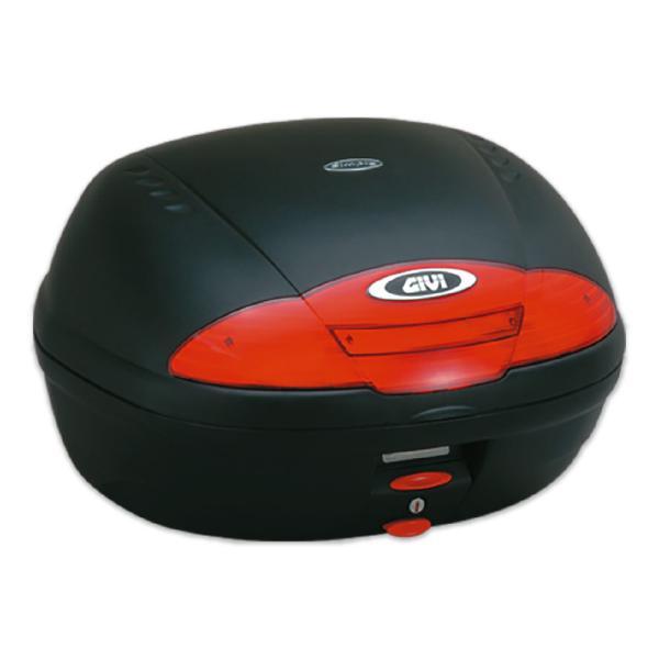 GIVIジビトップケースモノロックケースリアボックスE450N容量45L未塗装ブラック高品質バイク用テールボックス