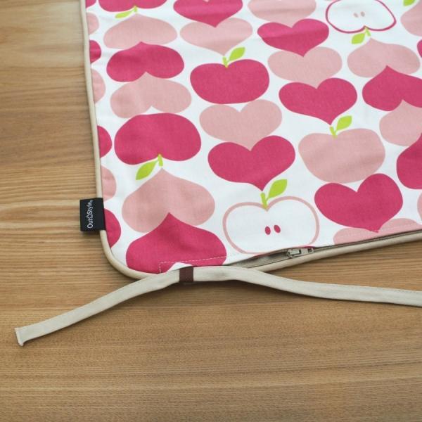 クッションカバー 45x45  北欧 おしゃれ かわいい 日本製 綿プリント チェック 幾何 フラッグ ハートリンゴ 花 ケイト コルネ メリダ outstylepro 12
