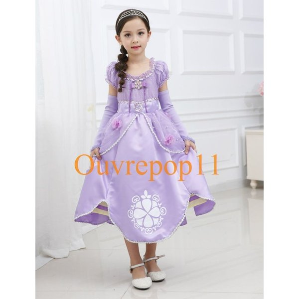 93b22e5759836 ソフィア 風 プリンセスドレス 子供 ドレス 袖カバー付き 衣装 ...