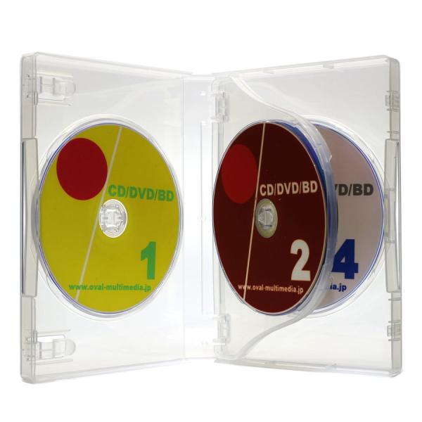 DVDケース トールケース 4枚収納 クリア 27mm厚Mロック 1個