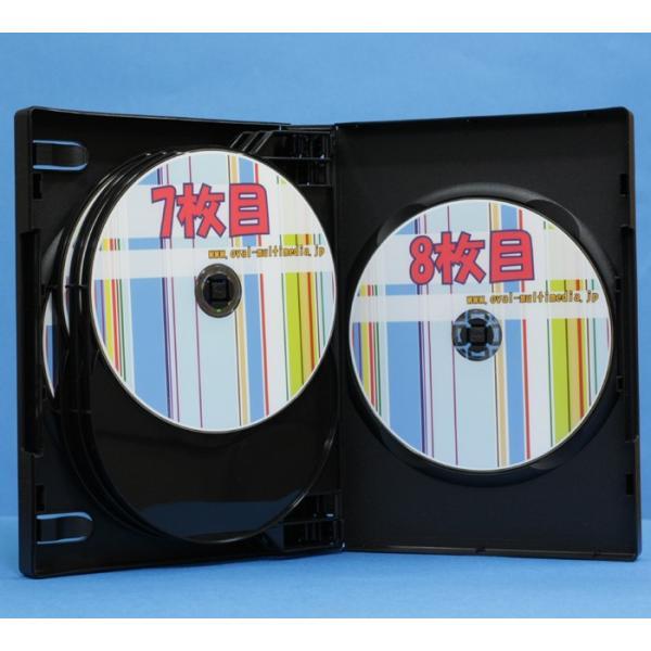 DVDケース 8枚収納トールケースブラック 3個 28mm厚に8枚のCD DVD Blu-rayDiscを収納|ovalmultimedia|03