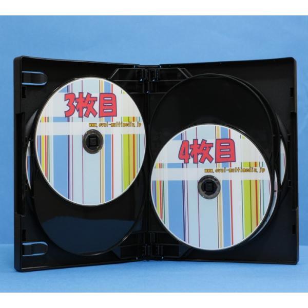 DVDケース 8枚収納トールケースブラック 3個 28mm厚に8枚のCD DVD Blu-rayDiscを収納|ovalmultimedia|05
