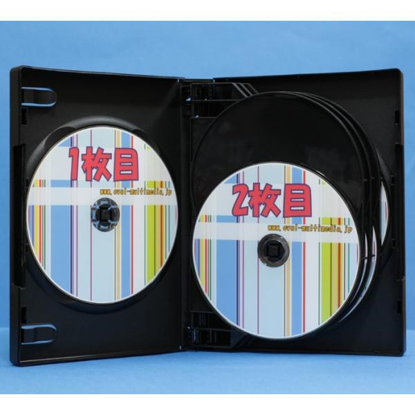 DVDケース 8枚収納トールケースブラック 3個 28mm厚に8枚のCD DVD Blu-rayDiscを収納|ovalmultimedia|06