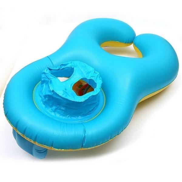 子供 浮き輪  親子うきわ タンデムリング 2人用 浮き輪 用ベビー用 足入れ フロート ポイント消化|over-frag|02