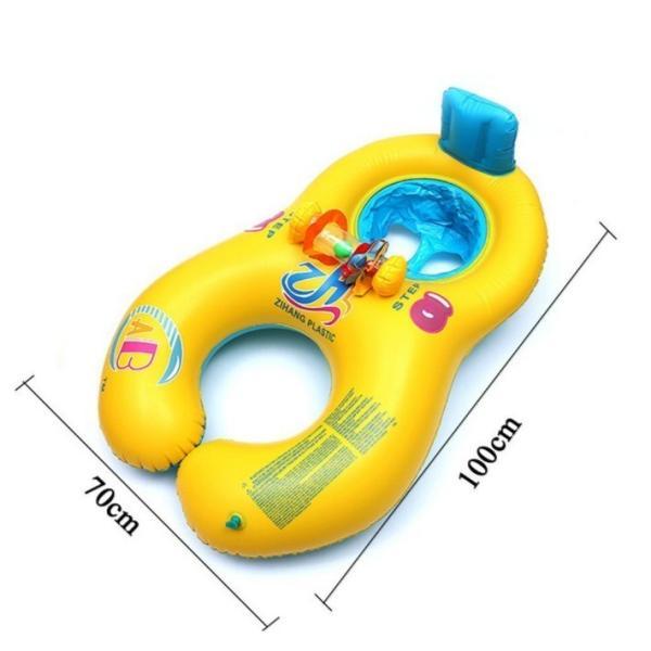 子供 浮き輪  親子うきわ タンデムリング 2人用 浮き輪 用ベビー用 足入れ フロート ポイント消化|over-frag|05