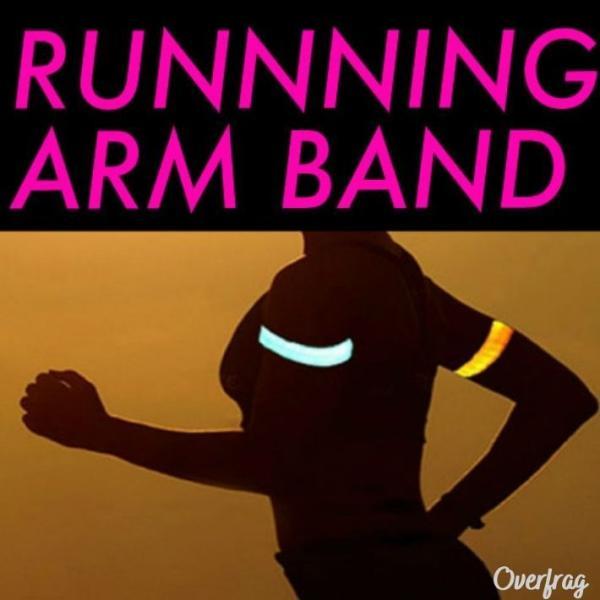 ランニング ジョギング LED アーム バンド リフレクター ライト 自転車 セーフティーライト 夜間 通勤 通学 散歩 LED 光る ライト ポイント消化|over-frag|02
