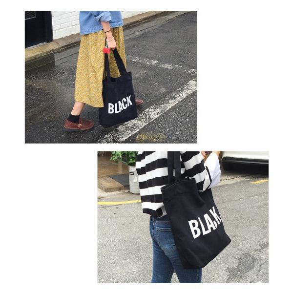 カラー トートバッグ 手提げ鞄 手提げカバン レディース メンズ キャンバス 布 帆布 ファスナー A4 大容量 ロゴ ブラック ホワイト シンプル カジュアル  通学|over-frag|06