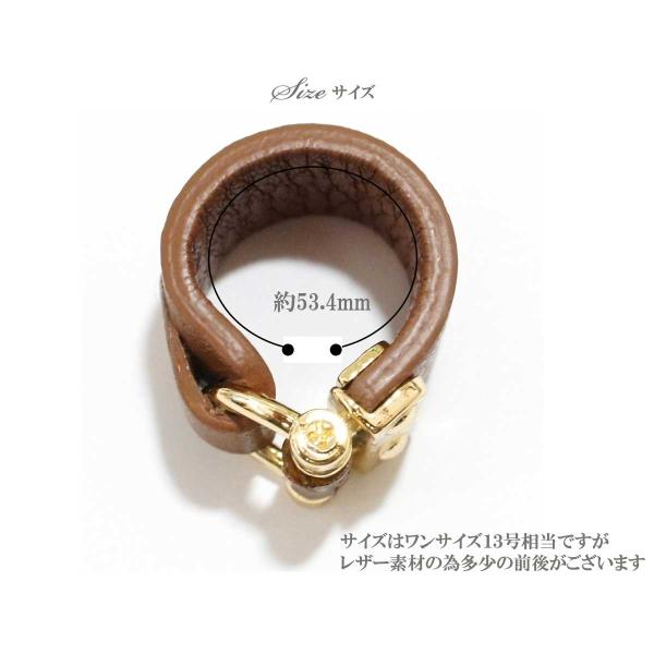 リング 指輪 レディース リアルレザー バンブー デザイン ワイド リング レザーリング 指輪 本革 本皮 レザー レビューを書いてポスト投函送料無料|overrag|06