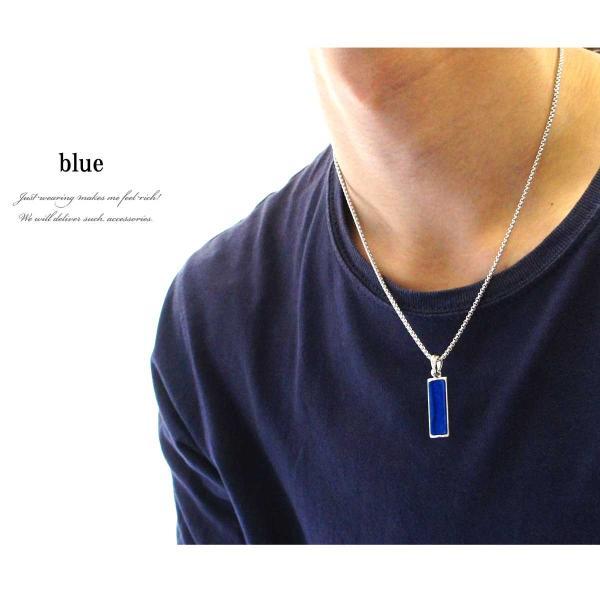 ネックレス メンズ メンズネックレス メンズアクセサリー カラープレートネックレス プレート カラー ホワイト グレー ブルー ランキング|overrag|11