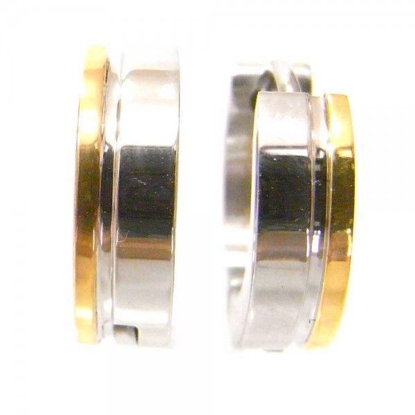メンズ ピアス 両耳 フープ サージカルステンレスピアス ゴールドサイドライン 送料無料|overrag|02