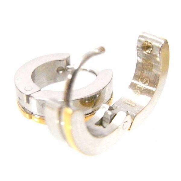 メンズ ピアス 両耳 フープ サージカルステンレスピアス ゴールドサイドライン 送料無料|overrag|04