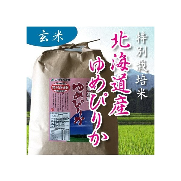 令和2年産 玄米1kg 特別栽培 北海道新すながわ ゆめぴりか