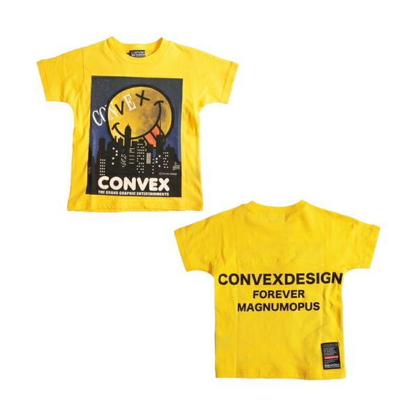 40%OFFセール CONVEX コンベックス  110-160cm ムーンライトビッグTシャツ キイロ メール便OK  2021春夏 子供服 半袖Tシャツ SALE