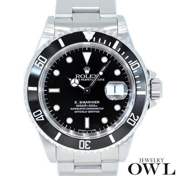 ロレックス ROLEX サブマリーナ デイト 16610 W番 オールトリチュウム 保証書・箱付き 中古 メンズ 腕時計 owl-watch
