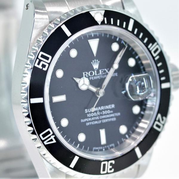 ロレックス ROLEX サブマリーナ デイト 16610 W番 オールトリチュウム 保証書・箱付き 中古 メンズ 腕時計 owl-watch 04