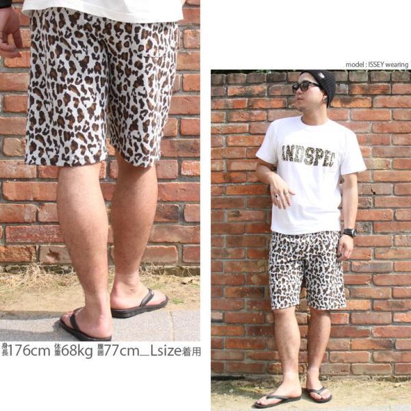 ショートパンツ メンズ ハーフパンツ ショーツ 短パン 半ズボン イージーパンツ ボーダー 総柄 ヒョウ柄 黒 ネイビー M L XL 2L LL 大きいサイズ|owl|18