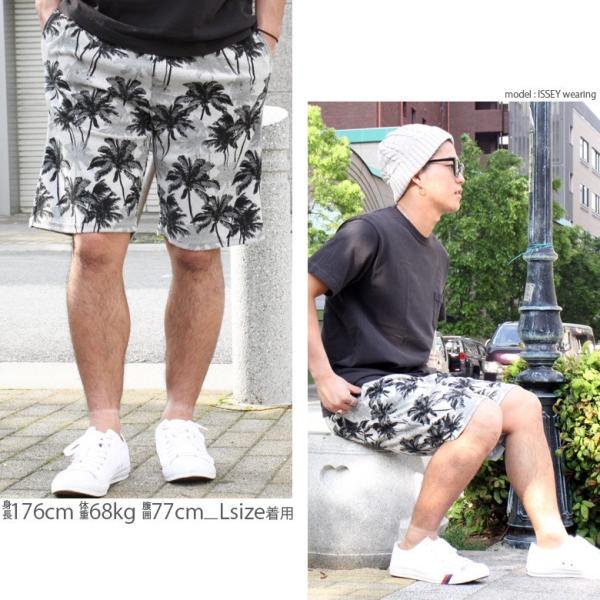 ショートパンツ メンズ ハーフパンツ ショーツ 短パン 半ズボン イージーパンツ ボーダー 総柄 ネイティブ柄 黒 ネイビー M L XL 2L LL 大きいサイズ|owl|14